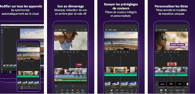 2-برنامج تصميم فيديو لاندرويدAdobe premiere clip