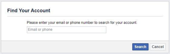 البحث عن حسابك واسترداده مع تفاصيل الاتصال