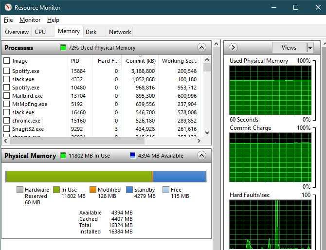 مقدار ذاكرة الوصول العشوائي (RAM) المتوفرة لديك