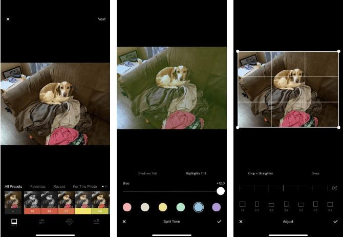 8. VSCO تطبيق لتعديل الصورعلى iPhone