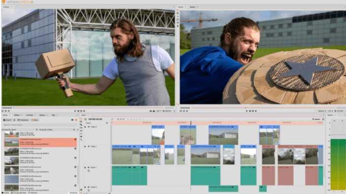 برنامج مونتاج الفيديو HitFilm Express للكمبيوتر