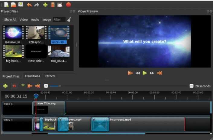 برنامج مونتاج الفيديو Openshot للكمبيوتر