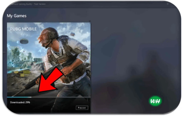 بدء عملية تحميل لعبة ببجي للكمبيوتر