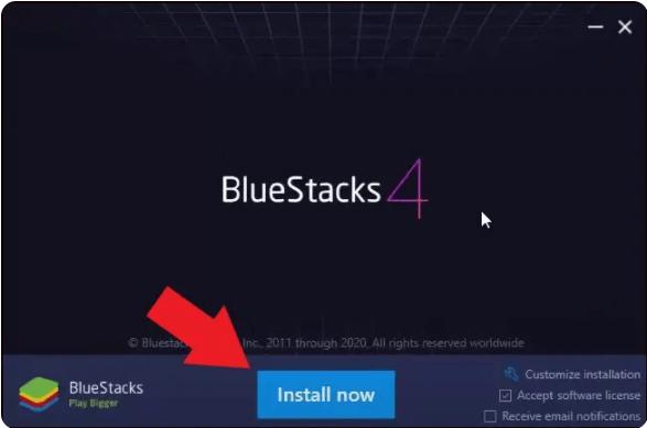 تثبيت BlueStacks