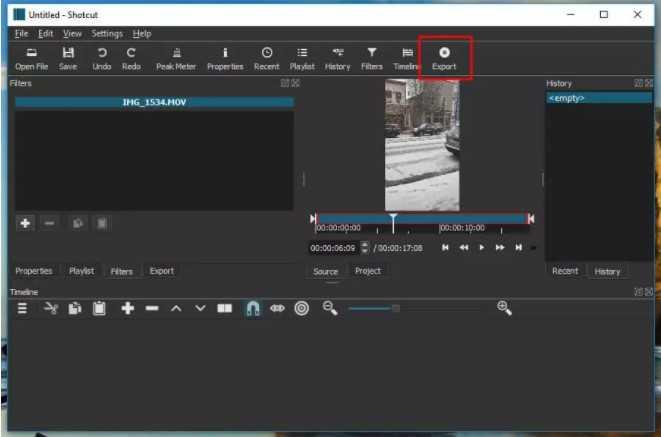 تصغير حجم الفيديو باستخدام Shotcut